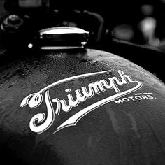 hope you enjoy the cafe racer inspiration. Triumph Cafe Racer, Triumph Bobber Custom, Triumph Logo, Suzuki Cafe Racer, Triumph Scrambler, Triumph Bonneville, Triumph Motorcycles, Custom Motorcycles, Triumph T120