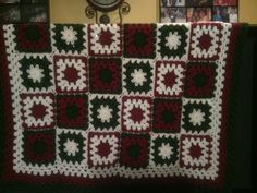 Check out this item in my Etsy shop https://www.etsy.com/listing/211285242/festive-granny-square-crochet-blanket