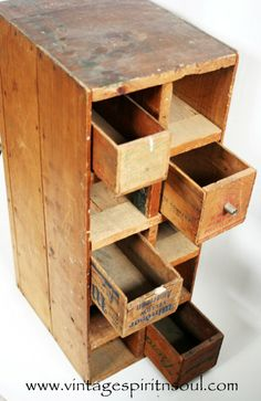 Antique Repurposed Recycled Cheese Box Fruit by VintageSpiritnSoul, $45.00