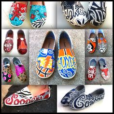 Custom hand painted canvas shoes by HeartAndSole143 on Etsy, $70.00