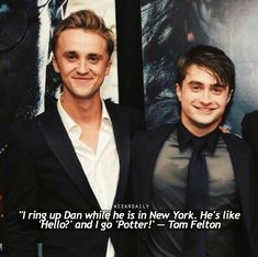 56 trendy funny harry potter cast interviews tom feltonYou can find Potter facts and more on our trendy funny harry potter cast interviews tom felton Harry Potter World, Mundo Harry Potter, Harry Potter Feels, Harry Potter Pictures, Harry Potter Universal, Harry Potter Interviews, Harry Potter Jokes, Harry Potter Fandom, Harry Potter Characters