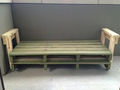 Very Easy DIY Pallet Couch - and then just use a twin size ...