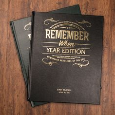 Personalised Newspaper Year Book | GettingPersonal.co.uk
