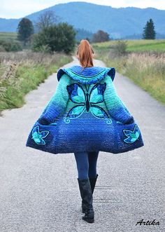 Oh. My. Goddess. This is a crochet jacket that I have to make.   This will only take me two years to make! LOL