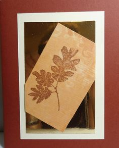 This is the first, and I think my favorite, of five card of leaves - got started and couldn't stop!