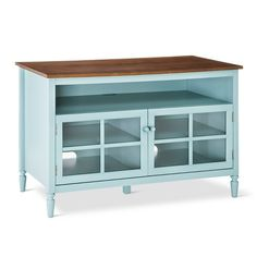 Isabella Glass Door with Open Shelf TV Stand