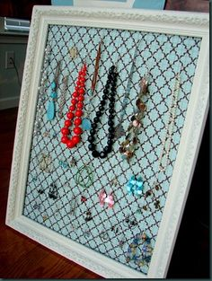Jewelry hanger. need to make this!