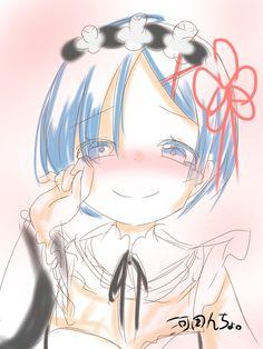 河田んちょ。 @KAWADA_Magic レムりん可愛いから描いた。 #レム #リゼロ