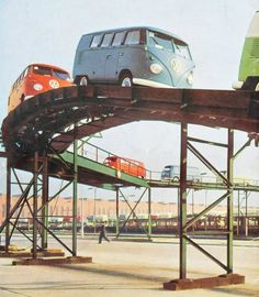 VW roller coaster - May not go very fast and would make frequent stops.