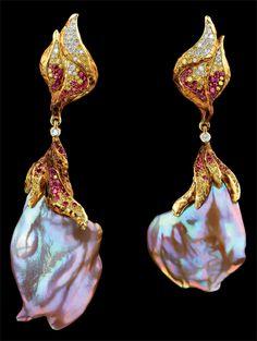Jewellery Theatre Beautifil organic free form jewellery with set stones
