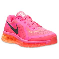 Women's Nike Air Max 2014 Running Shoes| FinishLine.com | Hyper Pink/Peach Cream/Bright Mango
