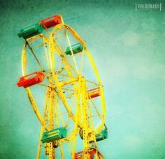 Such Great Heights  8x8 fair carnival by FourTreesPhotography, $22.00