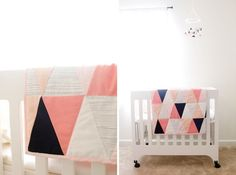 wonderful:  Just Wondering, WHY I cannot comment, and WHY there are NO SHARING options available through this #blogger post?? for modern ombre + b/w triangle quilt tutorial + pattern - see kate sew