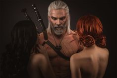 Characters: Yennefer of Vengerberg, Geralt of Rivia, & Triss Merigold of Maribor / From: Andrzej Sapkowski's 'The Witcher' Short Stories and Novels & CD Projekt RED's 'The Witcher' Video Game Series / Cosplayers: Unknown as Yennefer, Maul Cosplay as Geralt, & Unknown as Triss / Photo: eosAndy (2016)
