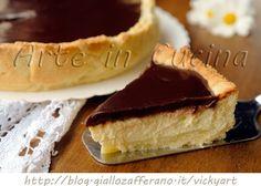 Torta Susanna di Parma frolla ricotta e cioccolato, ricetta emiliana, torta facile, veloce, dolce cremoso, glassatura a specchio, crostata ripiena, dolce tipico