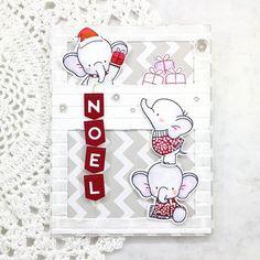 MFT Polar Bear Pals stamp set, MFT Snowfall of Blessings stamp set, MFT Die-namics Stitched Rectangle Scallop Edge Frames, MFT Die-namics Icebergs