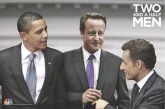 CNBC-E Turkey Series: News & Series, Two And A Half Men (Barack Obama, David Cameron & Nicolas Sarkozy).
