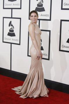 Skylar Grey in Michael Costello. Grammys 2014.