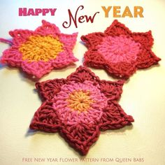 New Year Flower 2015 ~ free pattern ᛡ