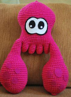 Crochet Splatoon Squid by theBlackLory on Etsy