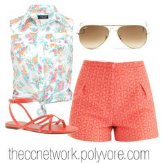 Mixing Pattern and Texture in your Summer Outfits by theccnetwork on Polyvore