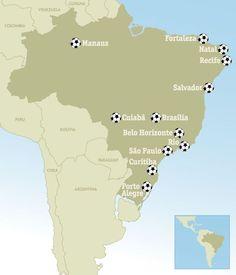 Sede .mundial de futbol .Brasil .2014