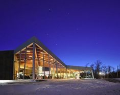 QUALICO FAMILY CENTRE      Where:  Winnipeg, Manitoba     What:  An ultramodern building located in Assiniboine Park on the edge of the Duck Pond.     Capacity:  Up to 200     Why We Love It:  With its soaring ceilings and massive windows, the Qualico Centre is airy and light making it the perfect choice in any season. However, a winter wedding---complete with a crackling fire and ice-skating on the pond---is especially delightful.     Website:   assiniboinepark.ca