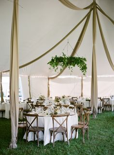 Tented garden wedding reception: Photography : Almond Leaf Studios Read More on SMP: http://www.stylemepretty.com/2016/07/27/this-backyard-wedding-is-basically-father-of-the-bride-irl/