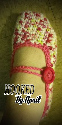 Womans BALLET style slippers CUSTOM ORDER by HookedByApril on Etsy, $12.00