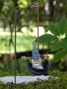 Gnome Tire Swing Fairy Garden Accessory by TheLittleHedgerow
