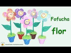 Manualidades: Fofucha flor no se necestian patrones / eva rubber flower