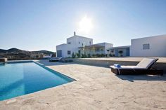 Luxury Villa Irma, in Antiparos, Greece. Villa With Private Pool, Luxury Villa, Greece, Daily Cleaning, Modern Interiors, Cleaning Service, Mansions, House Styles, Seaside