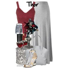 Thor by amarie104 on Polyvore featuring Topshop, Jimmy Choo, Matt & Nat, Boohoo, Carolina Glamour Collection, Too Faced Cosmetics, Kevyn Aucoin and OPI