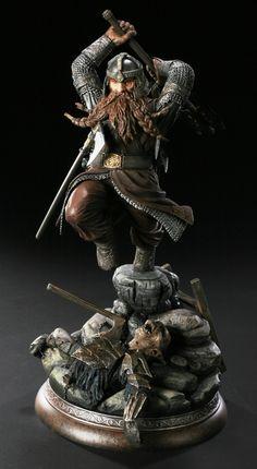 Gimli Statue by TKMillerSculpt.deviantart.com on @deviantART