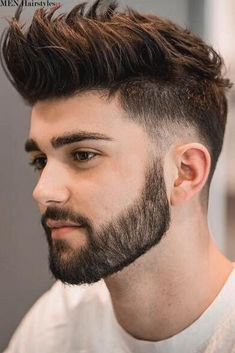 Short Beard Styles the collection of hair that grows on the chin and cheeks of humans and some non-human animals. Styles for men and Beard styles. Cool Hairstyles For Men, Haircuts For Men, Hairstyle Ideas, Hair Ideas, Mens Hairstyles With Beard, Haircut Men, Haircut Short, Modern Hairstyles, Modern Man Haircut