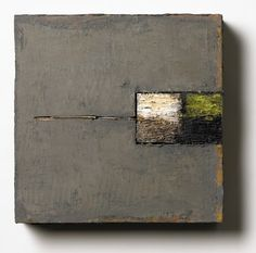 Spring Line ,  oil/wax with mixed media on wood,  12 x 12 x 3, sorry, no info on this one ,  Settlement #5 ,  oil/wax with mixed media on ...