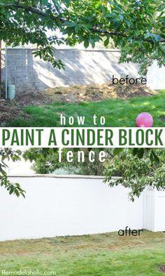 Paint Outdoor Cinder Block Wall Ideas Decorative