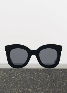 MARTA SUNGLASSES IN BLACK ACETATE WITH GREY LENSES	 ACETATE 41093CPLB.38NO  MORE SUGGESTIONS 250 EUR