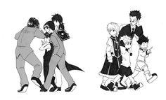 Yu Yu Hakusho and Hunter x Hunter Killua, Hisoka, Hunter X Hunter, Power Rangers, Yu Yu Hakusho Anime, Manga Anime, Anime Art, Yoshihiro Togashi, Cartoon Crossovers