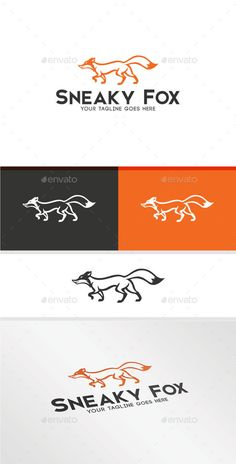 Sneaky Fox — Transparent PNG #logo #sports • Available here → https://graphicriver.net/item/sneaky-fox/17869210?ref=pxcr