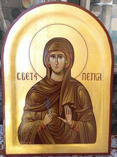 Sveta Petka 26x36 zlato 24 karata www.pravoslavneikone.org