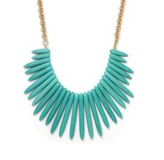Hey, I found this really awesome Etsy listing at https://www.etsy.com/listing/98715948/turquoise-bib-spike-necklace-and-chain