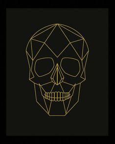 Geometric Skull Skull Print Skull Poster Geometric by Woofworld