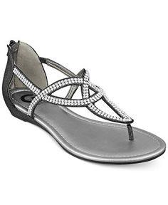 01faa8285b669e G by GUESS Jamila Flat Thong Sandals Shoes - Sandals   Flip Flops - Macy s