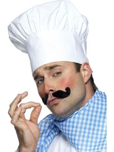 What's cooking'? This Men's White Chef Hat is a 'well seasoned' fancy dress accessory for our Chef Costume, or even our Killer Chefs.