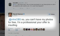 David Carson, who is a photojournalist for the St Louis Post-Dispatch, was asked…