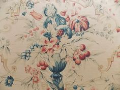 George Smith printed linen 'Gollut & Cherries'