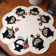American Baskets by Mary Ann Thom   All Wool Appliqué and Hand Stitched