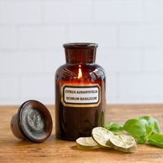 """""""Apothecary Candle, Lime & Basil"""""""