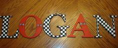 Decorative Nursery Letters: Race Car Theme